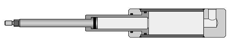 Single action telescoping cylinder