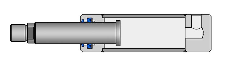Plunger hydraulic cylinder