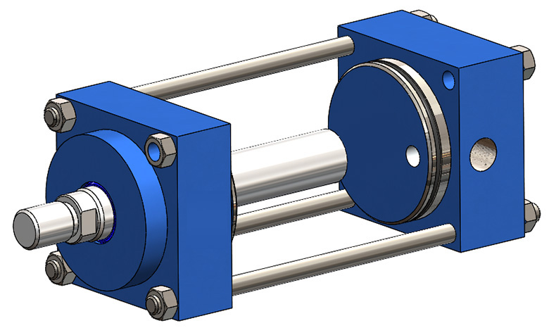 Plunger pneumatic cylinder