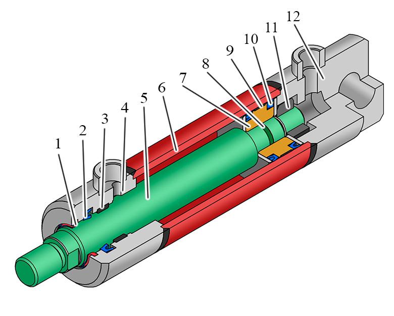 Componentes de los Cilindros Hidráulicos