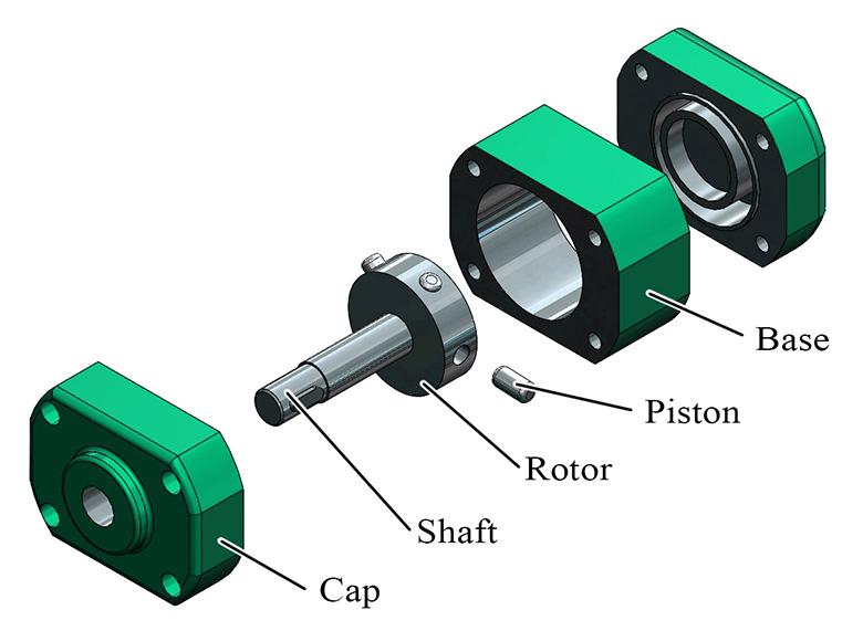 Fig. 1. Eccentric drive shaft pump design
