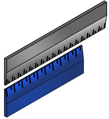 Rulers with different length units